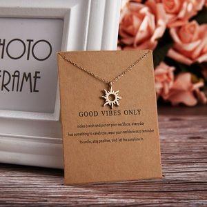 Jewelry - Elegant 'Good Vibes' Gold Necklace